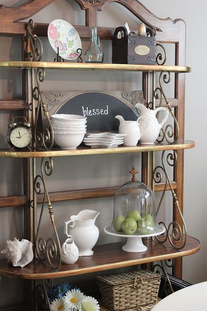 What\'s On My Baker\'s Rack {March | Living room | Bakers rack ...