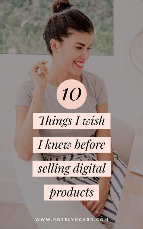 Everything I wish I knew before selling digital products | Create digital product, Things to sell, D