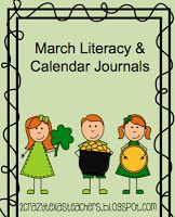 Here is our March Literacy and Calendar Journals pages! Great daily review!