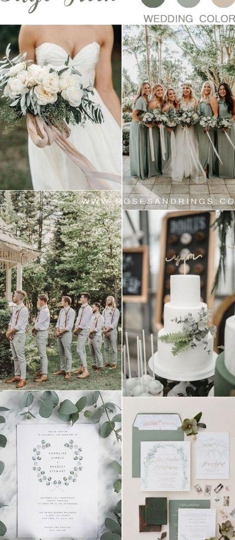 sage green wedding color ideas #wedding #weddings #weddingcolors #greenweddings #hmp #wedding #weddingring