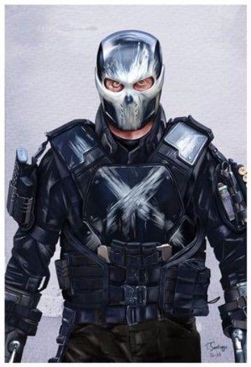 Crossbones Helmet Cosplay Captain America Civil War Helmet Brock Rumlow Mask PVC