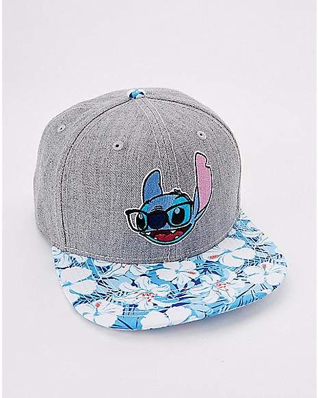 Disney Lilo /& Stitch Lilo Floral Snapback Hat Black