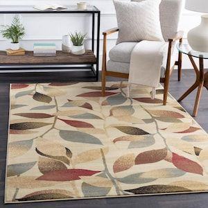Surya Riley Beige Indoor Tropical Area Rug Common 10 X 14 Actual 120 Ft W X 156 Ft L At Lowes Com In 2020 Brown Area Rugs Area Rugs Floral Area Rugs