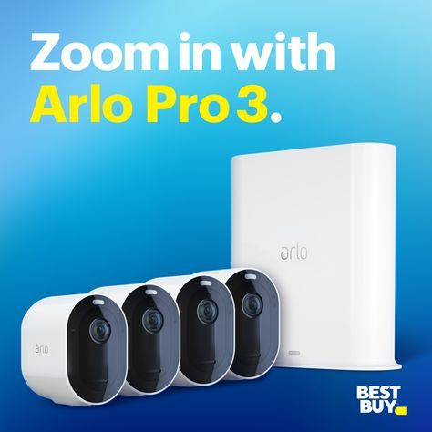 Want To Check In On What Matters Most Even When You Re Out The Arlo Pro 3 Is Quick And Easy To Install Cool Things To Buy Home Security Systems Home Security