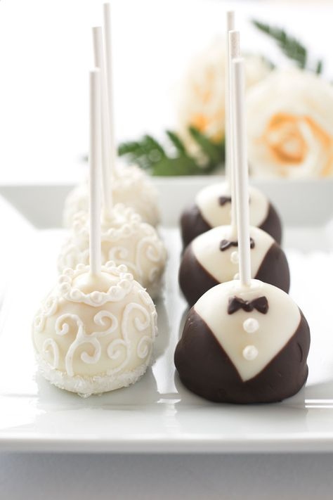 Great treat idea or unique idea instead of an actual wedding cake! If treat, it can be in the shape if soccerballs or something that is meaningful to the couple. http://www.howtoplanyourownweddingonabudget.com/ has some tips and advice on planning for a wedding while keeping expenses at a minimum. #wedding #cake