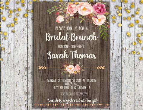 Bridal Brunch Invitation Printable Bridal by TiniTimeCreations