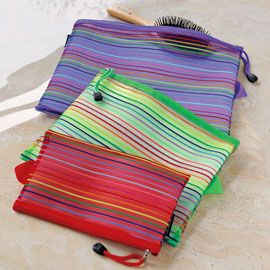 Mesh Pouches, Travel Pouches, Makeup Bags, See-through Travel Pouches | Solutions