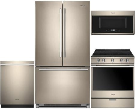 4 Piece Sunset Bronze Kitchen Package With Wrfa35swhn 36 French
