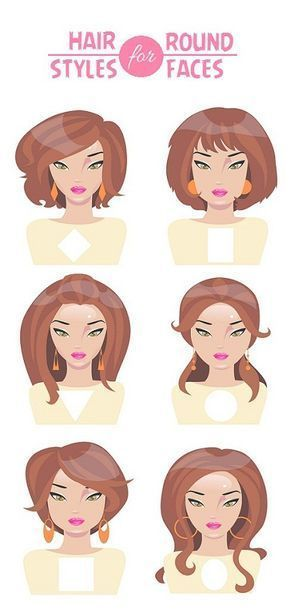 Different Hairstyles For Round Faces With Pictures Hair For Round Face Shape Medium Curly Hair Styles Round Face Haircuts