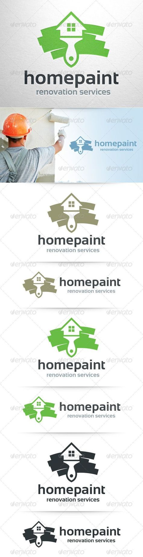 Home Painter  - Logo Design Template Vector #logotype Download it here: graphicr... -  - #design #Download #graphicr #Home #Logo #logotype #Painter #Template #Vector