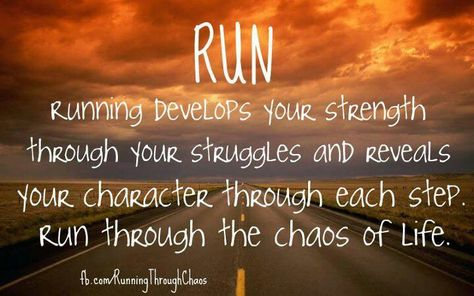 A very positive message. Running truly makes you clear your head and feel overall BETTER!
