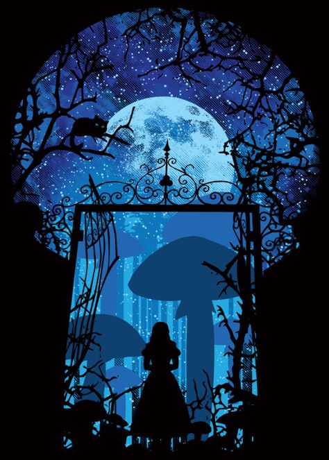 Inspired by the movie Alice In... by Dale Hutchinson | metal posters
