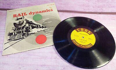 Rail Dynamics 10 Inch Lp 1952 Cook Locomotive Train Ny Central Peekskill Vintage In 2020 Peekskill Paper Train Music Book