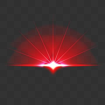 Semicircular Red Glow Sun Rays Light Effect Semicircle Red Glow Rays Png Transparent Clipart Image And Psd File For Free Download Lens Flare Effect Light Effect Lens Flare