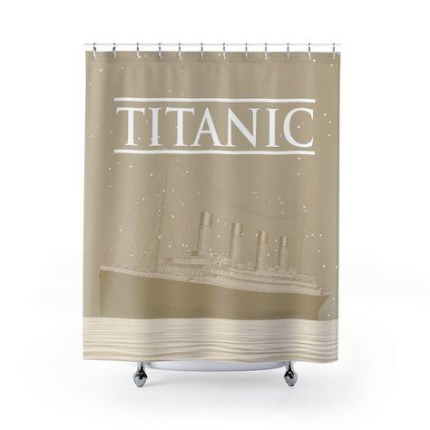 Vintage Bathroom Curtains Titanic Bath Curtain Long Shower