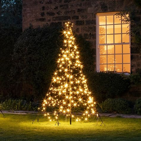2m Warm White Led Fairybell Outdoor Christmas Tree Outdoor Christmas Outdoor Christmas Decorations Christmas Tree