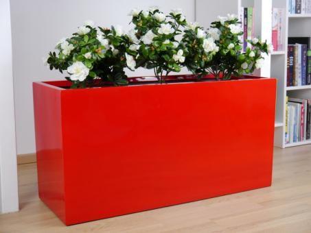 Pflanztrog Joy Hochglanz Rot 60x25x30 Cm Pflanzkubel Pflanzen