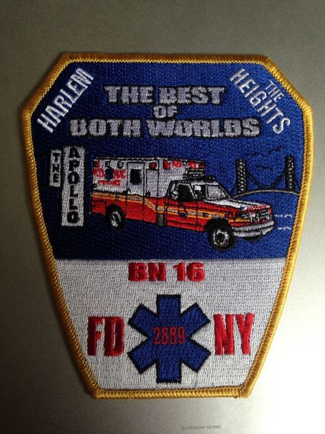 New York NY City New York State EMS Patch Fire Patch NYC CFRD Style v2