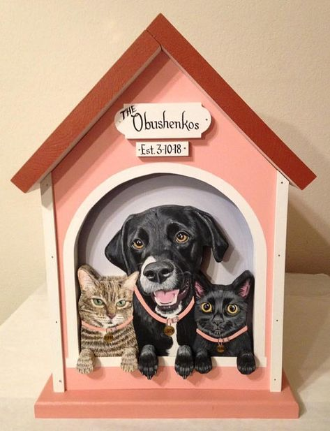custom 3 pet large wedding card box dog house weddings my wedding rh pinterest ca