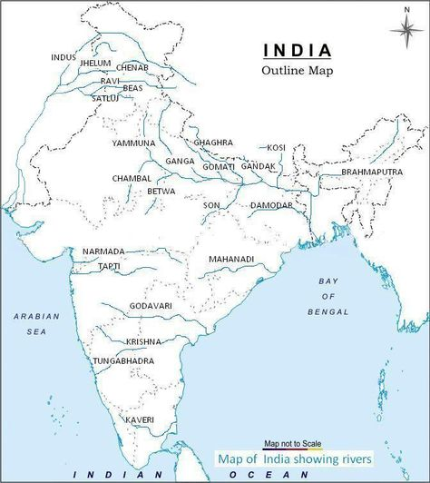 Indian River Map Geography Map India Map