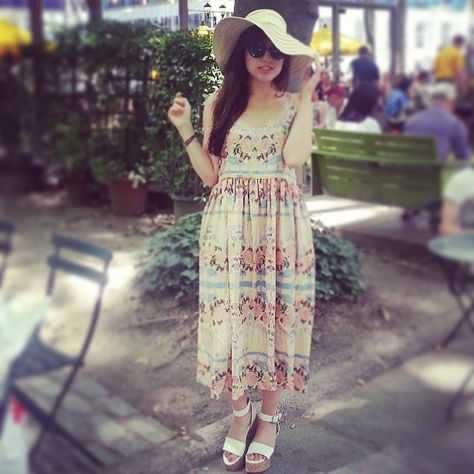 #sunday of flowerfulness with my @Samantha Pleet dress . Sunday #outfit