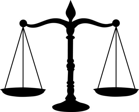Legal Scales Black Silhouette - Free Clip Art