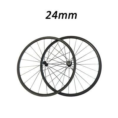 Sponsored Ebay Carbon Road Bike Wheels 24mm 700c Clincher Ultra