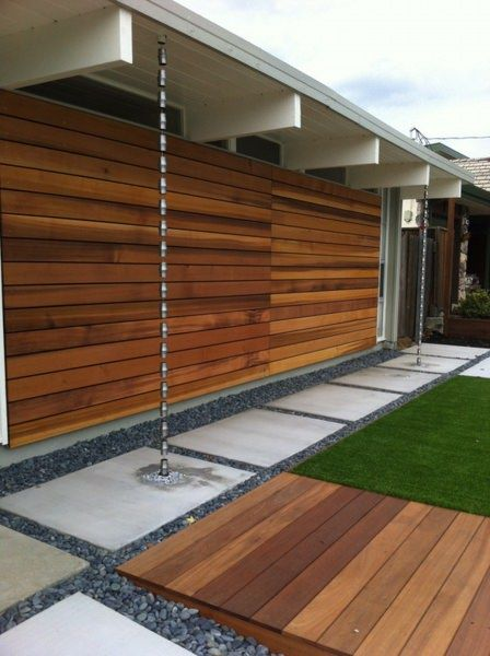 Eichler Home Renovation Blog Seo Rain Chain In 2020 Modern Patio Rain Chain Modern Rain Chains