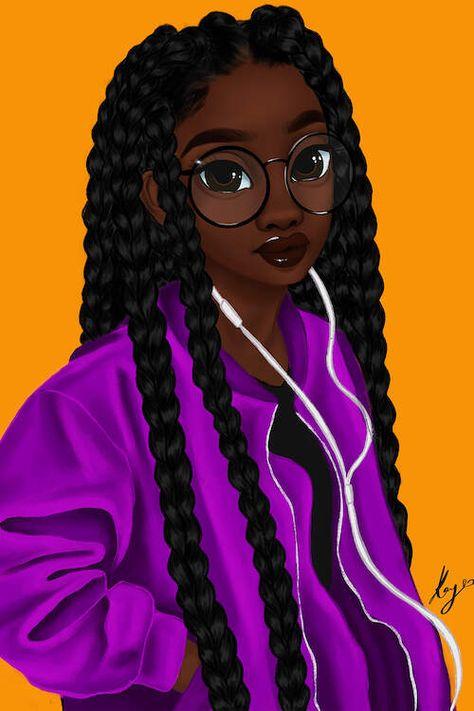 Music Canvas Print by Princess Karibo Black Art Painting, Black Artwork, Black Love Art, Black Girl Art, Music Canvas, Canvas Artwork, Drawings Of Black Girls, Black Girl Cartoon, Black Art Pictures
