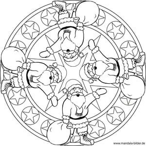 Mandalas Fur Kinder Zu Weihnachten Weihnachtsmandala Zum Ausmalen Weihnachtsmandala Weihnachtsmotive Zum Ausmalen Mandalas Kinder