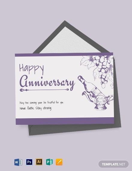 Hand Drawn Anniversary Card Template Word Doc Psd Apple Mac Pages Illustrator Publisher Business Card Template Design Id Card Template Card Template