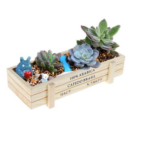Buy Wooden Garden Planter Trough Pot Window Box Succulent Flower Bed Pot at Wish - Shopping Made Fun