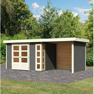 Woodfeeling 302 Cm X 306 Cm Gartenhaus Kerko 6 Wayfair De Flachdach Gartenhaus Gartenhaus Karibu Gartenhaus