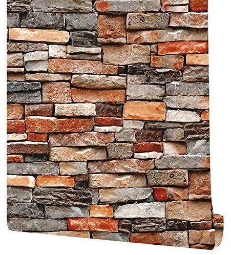 Stone Peel And Stick Wallpaper Rock Wallpaper Stacked Stone Wallpaper Faux Brick Wallpaper Stone Self Adhesive Remov Brick Wallpaper Stone Wallpaper Faux Brick
