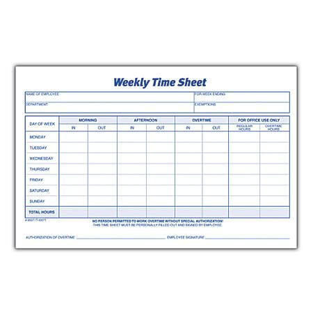 Image Result For Log Book For Preparing Time In And Out For Employees Sheet Week Timesheet Template