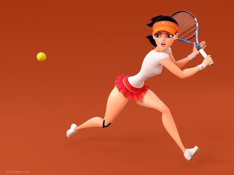 3d cartoon tennis - yinxuan