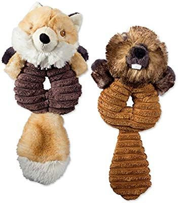Pet Supplies Bone Dry Dii Crinkle Noise Squeaking Ring Body Dog Toy 2 Piece Charlie Fox Bo Beaver Woodland Friends Pet Toy Pet Toys Pets Woodland Friends