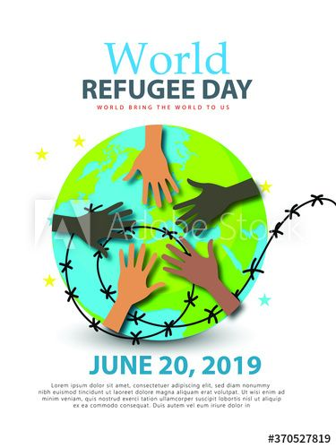 World Refugee Day Campaign Poster Refugee Awareness Poster Template Ad Day Campaign World Refugee Awareness En 2020