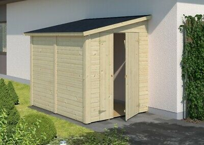 Palmako Geratehaus Mia 3 4 M Holz Pultdach 14 19 Mm Gartenhaus Gerateschuppen Ebay Gartenhaus Metall Gartenhaus Pultdach
