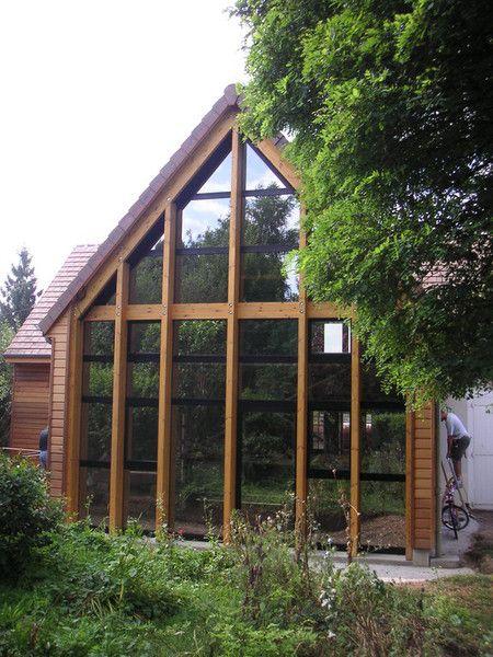 Extension structure poteaux-poutres lamellé-collé