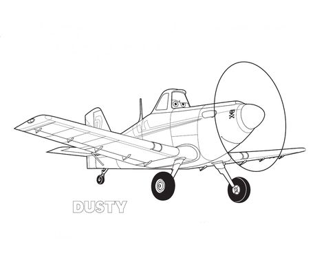 Disney Planes Coloring Pages Free Disney Planes Dusty Coloring