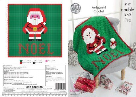 King Cole 4871 Knitting Pattern Snowman /& Santa Advent Cushions in Chunky