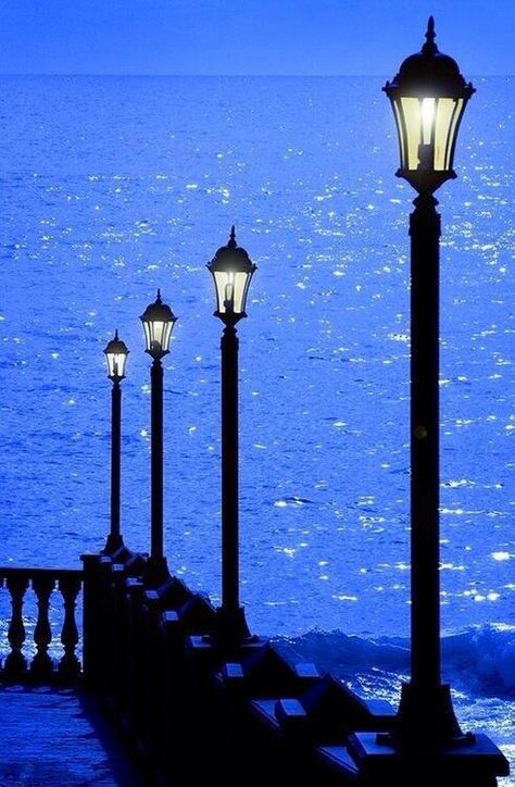 'Azure' - Tenerife is the largest and most populous island of the seven Canary Islands; also the most populated island of Spain! Love the beautiful shade of blue! Street Lamp, Canary Islands, Blue Aesthetic, Electric Blue, Belle Photo, My Favorite Color, Beautiful World, Shades Of Blue, Lanterns