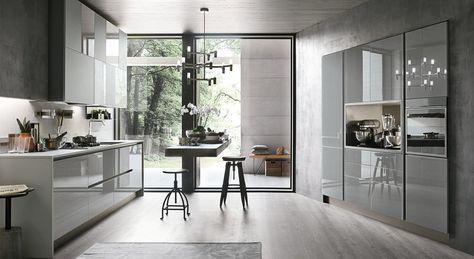 Cucine Moderne Stosa.Cucine Moderne Ecco I Giochi Riflessi Di Stosa Aliant