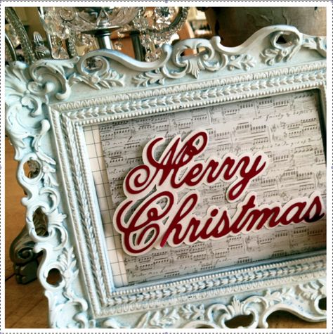 Teresa Collins December 25th cartridge-Home decor piece!