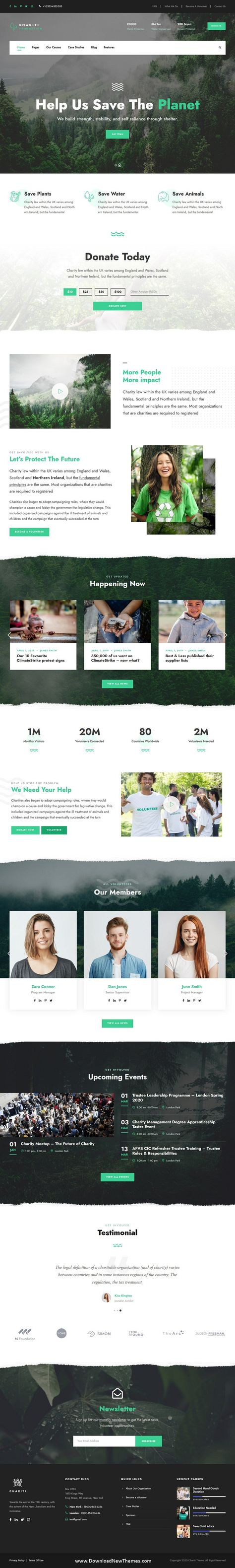 Charity & Donation Website Template