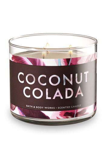 Coconut Colada 3 Wick Candle Bath And Body Works Bath Body