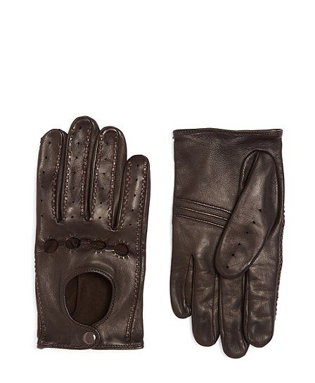 Brooks Brothers Men/'s Brown Leather Driving Gloves $168