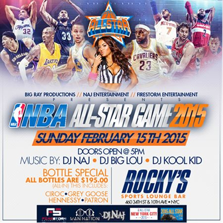 NBA All Star Game 2015 @ Rocky's Sunday February 15, 2015 « Bomb Parties – Club Events and Parties – NYC Nightlife Promotions