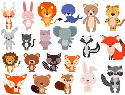 Free Animal Clipart Collection Animals Set In Flat Style Animal Clipart Free Animal Clipart Zoo Animals Clipart